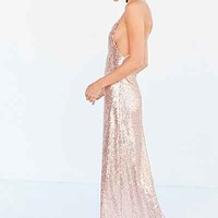 Glamorous Sequin Backless Maxi Slip Dress - Urban Outfitters