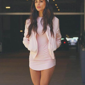 Pink Sexy Bodycon Mini Dress