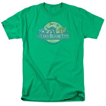 Land Before Time - Retro Logo Short Sleeve Adult 18/1 Shirt Officially Licensed T-Shirt