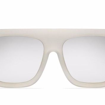 Quay Cafe Racer White / Silver Sunglasses