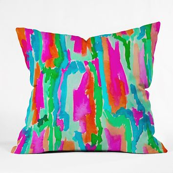 Rebecca Allen Wild Fleur Throw Pillow