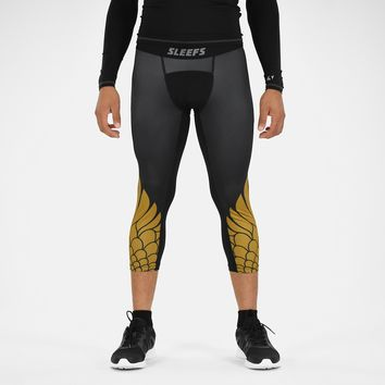Icarus Black and Gold 3/4 Tights for men