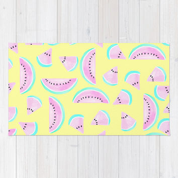 Summertime Area & Throw Rug by Lisa Argyropoulos | Society6