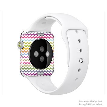 The Colorful Chevron Pattern Full-Body Skin Kit for the Apple Watch