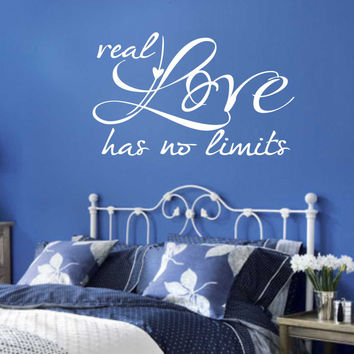 Real Love No Limits Quote | Romantic Decal | Vinyl Wall Lettering
