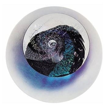 Black Hole Celestial Event Hand Blown Glass Paperweight 3H