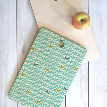 Heather Dutton Take Flight Aqua Cutting Board Rectangle