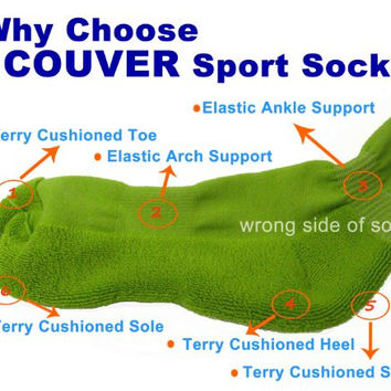 Couver Unisex Knee High Sports Athletic Baseball Softball Socks, BRIGHT GREEN, Large