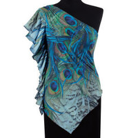 Peacock Flutter Top                                - New Age & Spiritual Gifts at Pyramid Collection