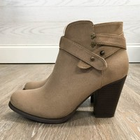 Linsley Ankle Booties - Taupe