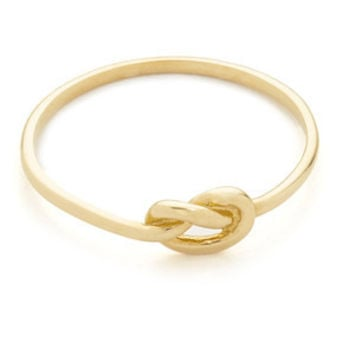 14 Karat Yellow Gold Love Knot Ring