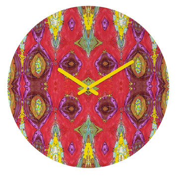 Ingrid Padilla Fancy Red Round Clock