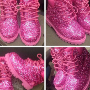 Custom Glitter Timberlands 35 7
