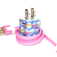 Cupcake iPhone Charger with Color USB Cable
