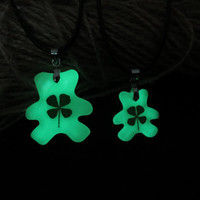 pooh glowing couple necklace,His and Her pooh Necklaces, pooh Necklace Pendant, Matching couple necklace