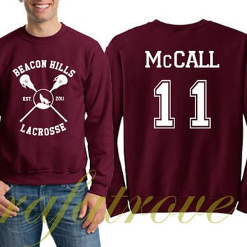 McCall Sweatshirt Beacon Hills Teen Wolf 11 Number Unisex Sweatshirts - RT106