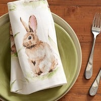 PASTURE BUNNY NAPKIN, SET OF 4