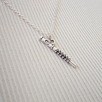 Flute Necklace - Charm Necklace - Tiny Necklace - Delicate Necklace - Silver Necklace - Silver Jewelry - Music Lover Gift  - Orchestra Charm