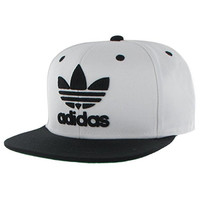 adidas Men's Originals Snapback Flat Brim Cap, Thrasher Design/White/Black, One Size