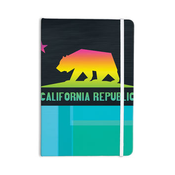 "Fimbis ""California"" Multicolor Teal Everything Notebook"