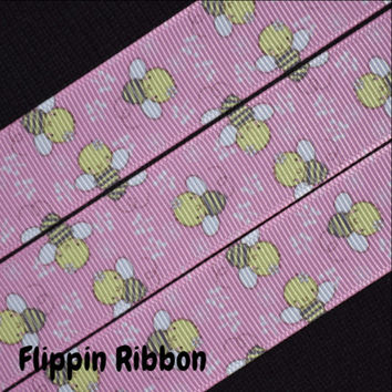 Baby Bumble Bee Ribbon, 3 Yards, 7/8 inch Grosgrain