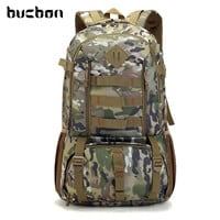 Large Waterproof Camo Military Tactical Backpack Mountaineer Hiking Camping Hunting Backpack Outdoor Sports Bag Rucksack HAB