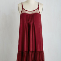 Boho Mid-length Sleeveless Shift Going Steady Dress