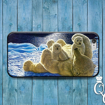 iPhone 4 4s 5 5s 5c 6 6s plus iPod Touch 4th 5th 6th Generation Cover Super Cute Polar Bear Family Animal Phone Cool Winter Snow Ice Cover