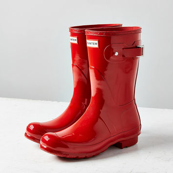 Hunter Original Short Gloss Rain Boot | Urban Outfitters
