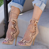 Gladiator Sandals Women 2016 Summer Brand Design Women's sandalias tacon Lace Up Sandals High Heels Sexy party Shoes Plus S621