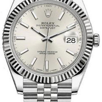 Rolex - Datejust 41mm - Stainless Steel and White Gold