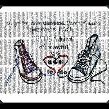 buy any 2 prints get 1 free converse running doctor who quote vintage dictionary art