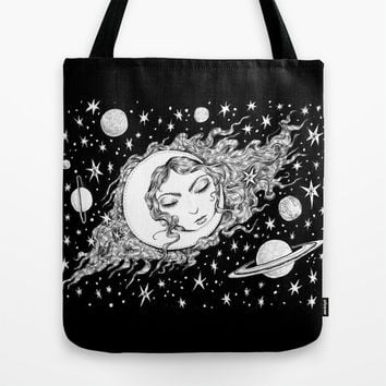 Midnight Muse Moon Love Tote Bag by Brettisagirl