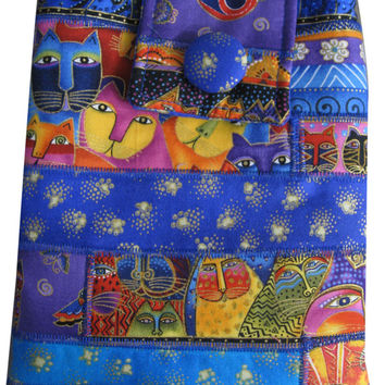 Hip Purse in Pieces of Laurel Burch Cat Fabrics