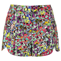 Pop Floral Scallop Shorts - New In This Week - New In - Topshop