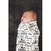 Personalized Swaddle - Teepee in custom color