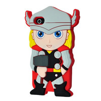 Universal Trading Superheroes & Superman series Design Cartoon Silicone case For Iphone 5C(Thor) = 1946768388