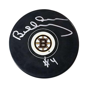 BOBBY ORR AUTOGRAPHED HOCKEY PUCK - BOSTON BRUINS