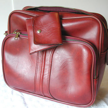 Merlot Travel Bag  Airway Encore Vintage Messenger Bag