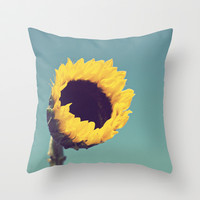 Sunflower Throw Pillow by Libertad Leal Photography