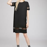 Mesh-Paneled T-Shirt Dress
