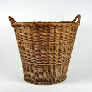 Vintage Extra Large Willow Basket or Hamper by havenvintage