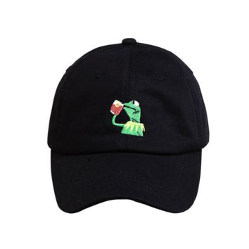 Outdoor Sports Cool Frog Embroidery Baseball cotton cap Men Cotton Camping Hunting Fishing Snapback cotton cap