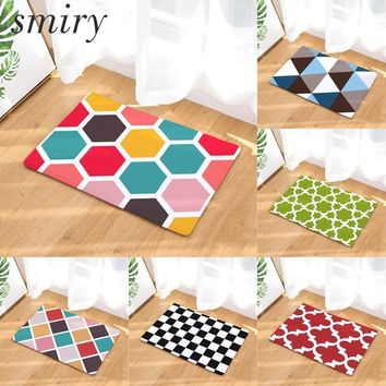 Autumn Fall welcome door mat doormat Smiry anti-skid colorfast in front of s rainbow color honeycomb geometry pattern rugs light flannel living room carpets AT_76_7