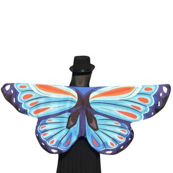 2017 Novelty Fashion Soft Fabric Butterfly Wings Shawl Pashmina Fairy Ladies Nymph Pixie Costume Accessory Scarf Women #18