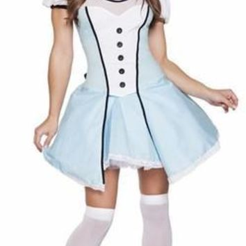 Adult Alice of Wonderland Let's Go Play Halloween Costume
