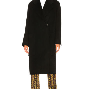 Acne Studios Carice Double Coat in Black | FWRD