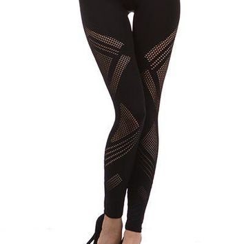 Legging with fish net design (different colors)