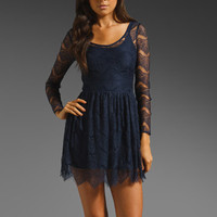 keepsake Hearts Collide Dress in Navy from REVOLVEclothing.com