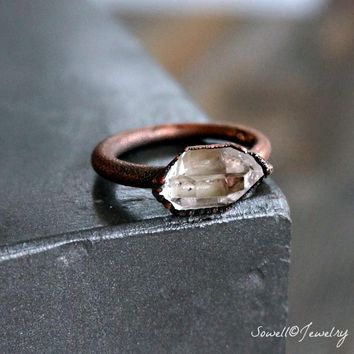 Raw Crystal Quartz Ring